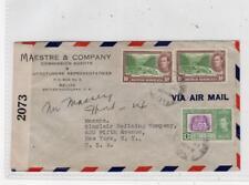 BRITISH HONDURAS: 1940s Censored Airmail cover to USA (C36360)