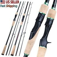 Portable Carbon Spinning Rod Casting Fishing Rod Light Travel Fishing Pole Lure