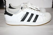 ADIDAS Superstar Sneakers SHELL TOE White Black Leather Mens SIZE 8 VGC