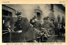 König Friedrich August von Sachsen auf seinen Gütern in Schlesien Bukowine 1905
