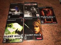 Silent Hill 1,2,3,4 And Origins Empty Replacement Cases PS2, PlayStation, PS1