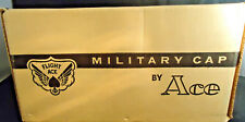 VINTAGE FLIGHT ACE UNITED STATES AIR FORCE WHITE MILITARY CAP SIZE 7 NEW IN BOX