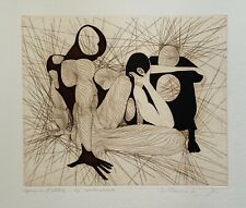 Guillaume Azoulay LA CONVERSATION Hand Signed 1986 Limited Edition Art Etching
