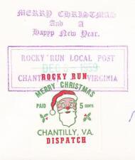 LOCAL POST Rocky Run Dispatch Chantilly Virginia Santa Christmas Herndon z80