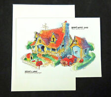 Disneyland Park c2005 Frameable Artist Rendition Card Disney Mickey Mouse House