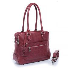New Lusso Genuine Italian Vintage Leather Handbag - Brilliant Burgundy!