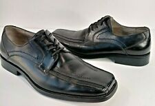 Stacy Adams CORRADO Double Bike Toe Lace Up Black Leather Shoes Mens 10M