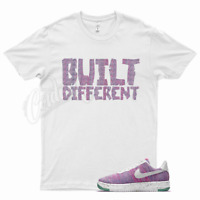 White BUILT T Shirt for Nike Air Force 1 One Crater Flyknit Pink Purple