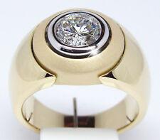 Men's Women Jewelry 18K Yellow Gold Plated White Sapphire Ring Wedding Size 6-10