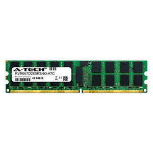 2GB PC2-5300E ECC UDIMM (Kingston KVR667D2E5K2/4G Equivalent) Server Memory RAM