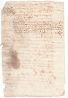 c1600 damaged manuscript document red ink signatures