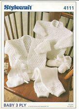 Patrón de 3 capas para Bebé Chaqueta, Suéter, Pantalones, Guantes & Bebe 16-22 in