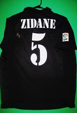Zinedine Zidane Real Madrid Away Black 2001 Jersey