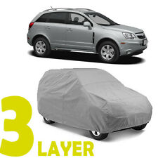 TRUE 3 LAYERS GRAY FITTED SUV COVER OUTDOOR WATER SUN RESISTANT for SATURN VUE