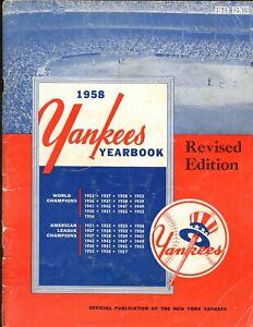 1958 New York Yankees Revised Yearbook VG
