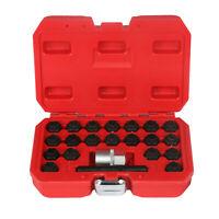 22PCS Auto Anti-Theft Wheel Nut Lock Key Screws Socket Removal Tool Set For BMW