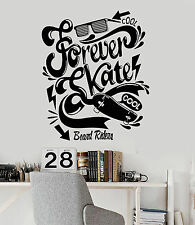 Vinyl Wall Decal Skate Quote Teen Room Skateboard Stickers (ig4539)