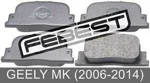 Pad Kit, Disc Brake, Rear For Geely Mk (2006-2014)