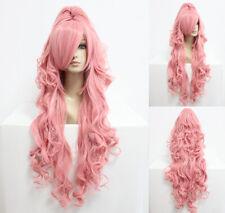Ladieshair Wig Perücke Pink Rosa 90cm VOCALOID Megurine Luka Cosplay F7T