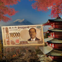 WR 10000 Yen Japan Brandnew Colorful Banknotes Gold Foil Paper Money