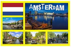 Amsterdam Monumentos - Recuerdo Novedad Imán de Nevera -