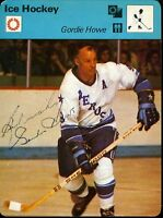 GORDIE HOWE SIGNED X2 JSA CERTED 1979 SPORTSCASTERS CARD AUTHENTIC AUTOGRAPH