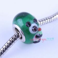 Free Postage 10pcs CHARMS Animal Lampwork Glass Beads Fit Braclets  151143