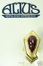 Goldsmiths Ring Yellow Gold 750 Alius Certified 22,9 size sonnenstrahlschmuck