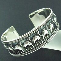 SHOP168 GENUINE HALLMARKED REAL 925 SOLID STERLING SILVER CUFF BANGLE BRACELET