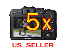 5x Canon PowerShot G15 Camera Clear LCD Screen Protector Guard Shield Film
