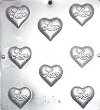"""""""Love"""" on Heart Chocolate Candy Mold Valentine  3064 NEW"""