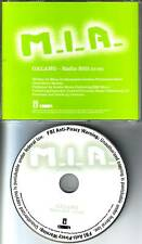 M.I.A. Galang w/ RARE EDIT PROMO RADIO DJ CD Single MIA