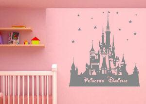 Personalised Walt Disney Castle Wall Stickers Personalised Cinderella Castle