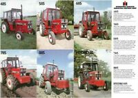 INTERNATIONAL 485 585 685 785 885XL 80's TRACTOR SALES BROCHURE/POSTER ADVERT A3