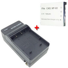 NP-60 Battery&Charger BC-60L for CASIO Exilim EX-Z9 EX-Z80 EX-Z85 8.1 MP Camera