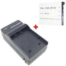 Battery&Charger for CASIO Exilim EX-FS10 EX-S10 EX-S12 EX-Z9 Z29 Z80 Z90 Camera