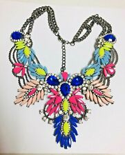 RUNWAY  COLLAR Statement Rhinestone Necklace - Eye Candy! Colorful