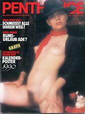 PENTHOUSE Januar/01/1990  *DIANA VAN GILS + KALENDERPOSTER!*