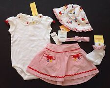 NWT Gymboree Cote D'Azure 12-18 Month Seashell Bodysuit Skirt Socks Headband Hat