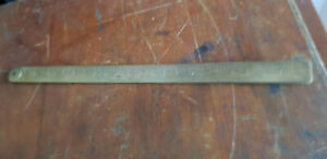 Vintage J Raybone and Sons Brass Folding Rule No.1243. Nice old tool