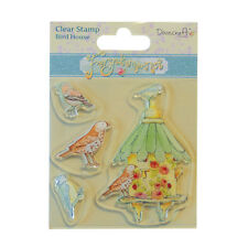 Dovecraft Forget Me Knot stamp-Birdhouse