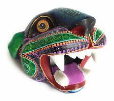 Jaguar Head Oaxacan Alebrije Wood Carving Animal Sculpture
