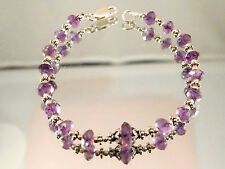 Natural amethyst bracelet with sterling silver clasp...43.5 carat