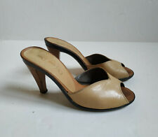 chaussures femme mules Christian Dior vintage cuir beige p. 35