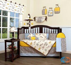 GEENNY Boutique Baby 13 Piece Nursery Crib Bedding Set, New Airplane