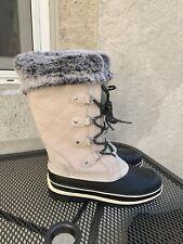 NEW Khombu Emily Women's Winter Boots GREY Suede Leather Faux Fur Pick Size