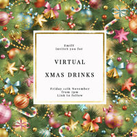 DIGITAL VIRTUAL FILE INVITE FOR ZOOM CHRISTMAS PARTY,DRINKS,XMAS TREE
