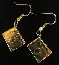 Scrapbook Earrings 24 Karat Gold Plate Memory Keeper Album Scrapbooker Memories