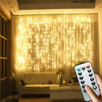 2x3M 200LED Curtain Fairy String Light Garden Chrismas Party Twinkle Lights