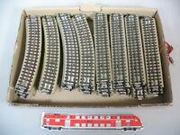 H163-2# 45x Märklin 00/H0 Gleise gerade+gebogene sehr gut für 3600/800